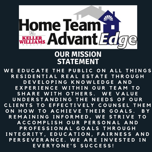 HOME TEAM ADVANTEDGE KELLER WILLIAMS MISSION STATEMENT