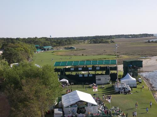 Heritage Golf Classic 18th Green On Calibogue Sound in Harbour Town