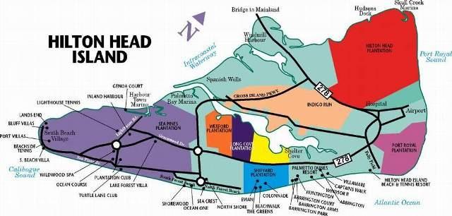 Hilton Head Communities - Map of sea pines hilton head island