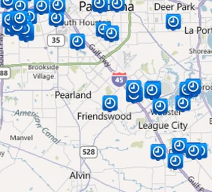 Houston/Galveston Property Search by Map