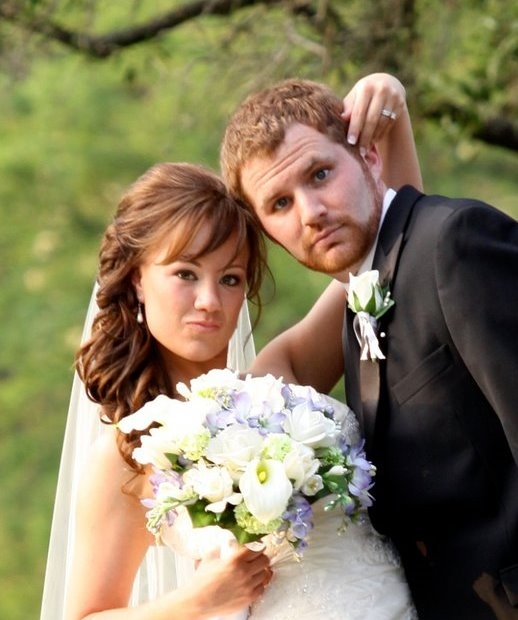 Justin Nations and his Bride, Christina Adams Nations