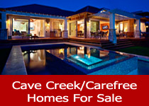 Search Cave Creek and Carefree AZ homes for sale