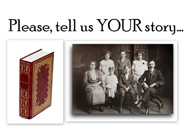 Please, tell us YOUR story...