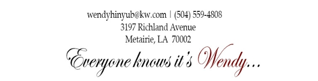 Contact Wendy Hinyub today for all of your real estate needs in Kenner, Southlake Villages, Metairie, Harahan