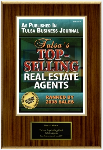 Tulsa Business Journal ranks Darla Calhoon as one of Tulsa's TopSelling Real Estate Agents