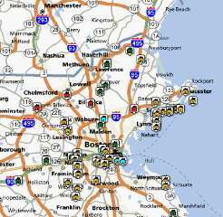 Map Boston North Shore