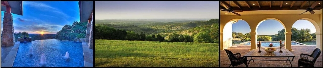 Awesome Views of the sorrounding Texas Hill Country from Homes In Belevedere!
