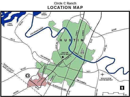 Circle C Map In Austin