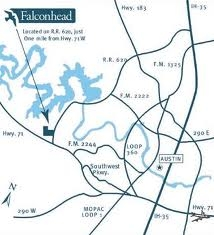 Falconhead In Lakeway Location Map - Main Entrance off RR 620 In Lakeway!