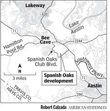 Local Map To Spanish Oaks In Bee Cave Tx