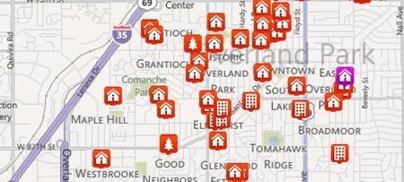 Search Overland Park Area Properties by Map