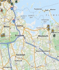 Greater Boston search Map