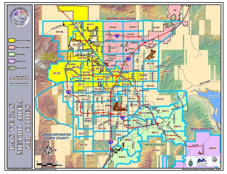 Henderson Las Vegas Zip Code Map