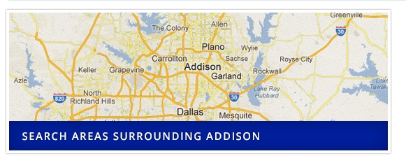 Search Areas surrounding Addison
