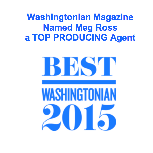 Meg Ross named a TOP PRODUCING AGENT by Washingtonian magazine