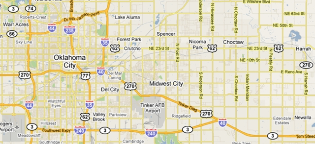 Search Oklahoma City Area Properties by Map