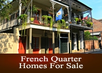 French Quarter LA homes for sale