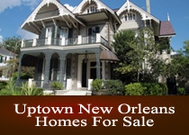 Uptown New Orleans LA homes for sale