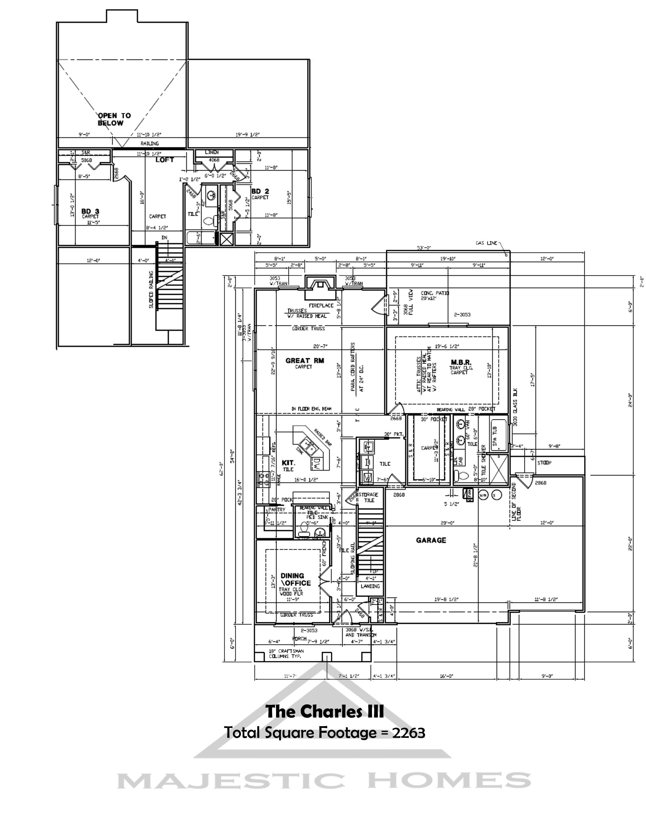 Majestic homes floor plans indiana house design plans for Indianapolis home builders floor plans