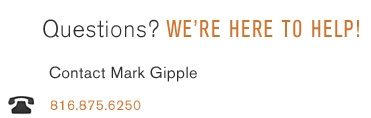 Questions? We're here to help! - Contact Mark Gipple