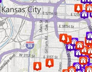 View Kansas City Area Listings by Map