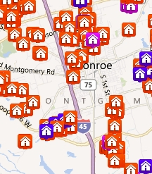 Search Conroe, Montgomery Properties by Map