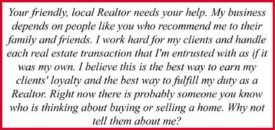 Your friendly, local Realtor needs your help!