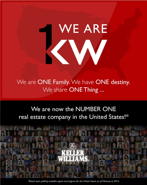 Keller Williams Realty #1 by Agent Count!!!
