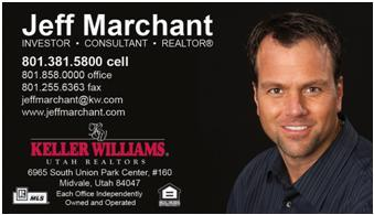 "Jeff Marchant ""Investor, Consultant and Realtor"" Specializing in residential real estate in the Salt Lake Valley."