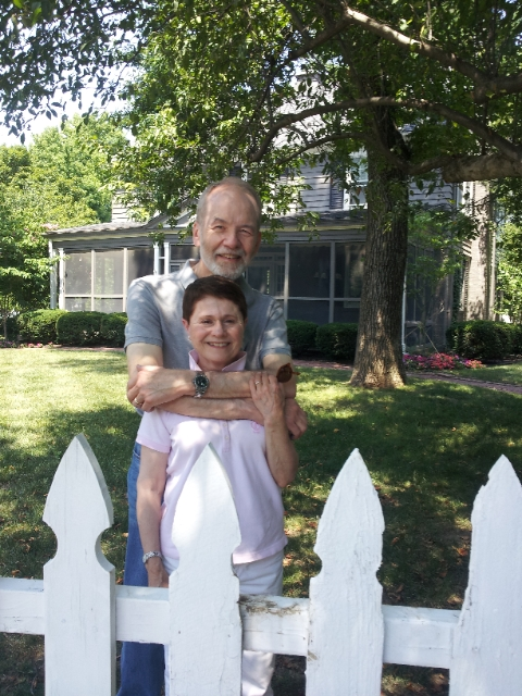 Judy & Bob Edsall - HAPPY CLIENTS in front of their new house at 602 Greenway Terrace in Brookside