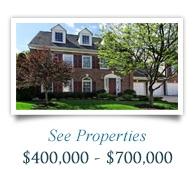See Properties $400,000 - $700,000