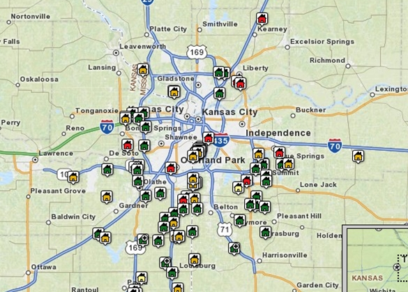 Kansas City Area Map Search Tool