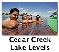 cedar creek lake levels