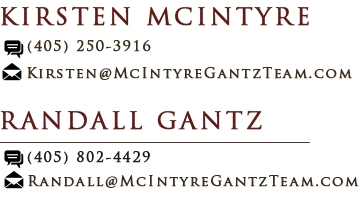 Contact Randall Gantz and Contact Kirsten McIntrye
