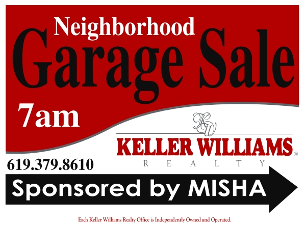 Tierrasanta Neighborhood Garage Sales sponsored by Misha Belous, Real Estate Professional in Tierrasanta - San Diego