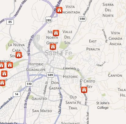 Search Santa Fe Map