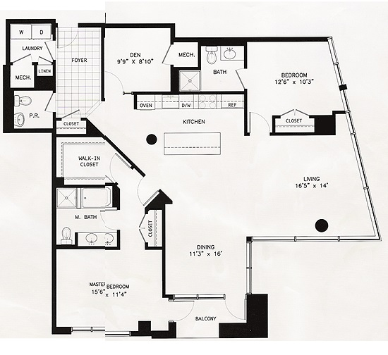 The Adagio Condominiums -- The Mendelssohn -- 2 bedrooms 2 baths plus den