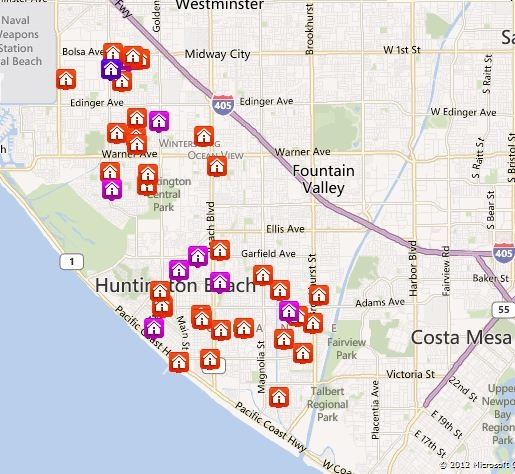 Huntington Beach map search