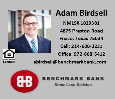 Adam Birdsell - Benchmark Bank - FireBoss Realty Preferred Lender