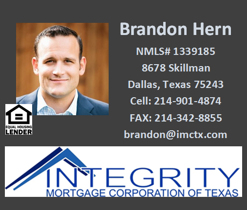 Brandon Hern-Integrity Mortgage Corporation of Texas - FireBoss Realty Preferred Lender