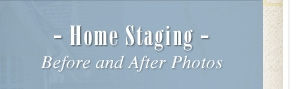 Home staging Before and After Photos