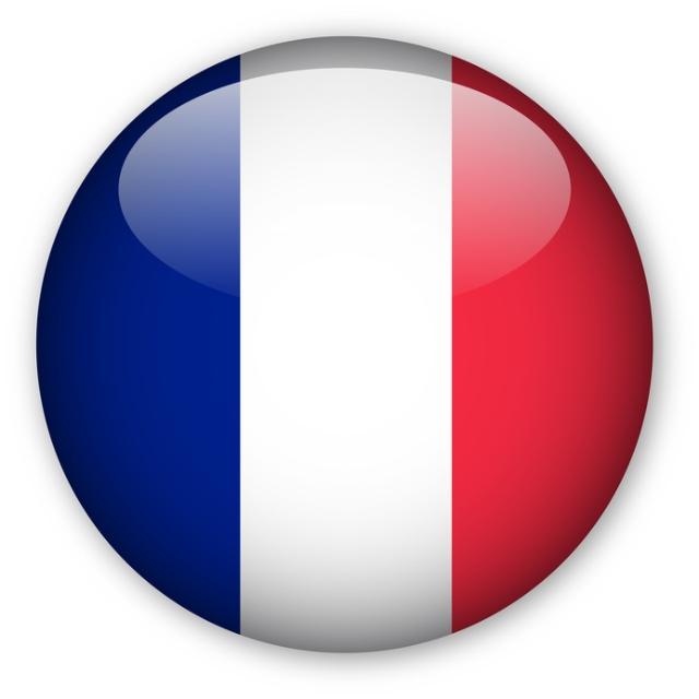 French flag - Je parle français