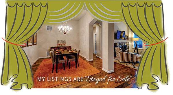 my listings are staged for sale