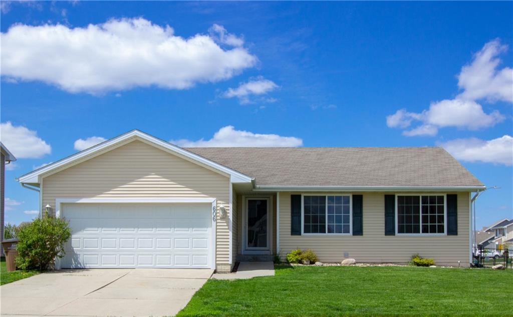 Photo of home for sale at 606 Spruce Circle NW, Bondurant IA