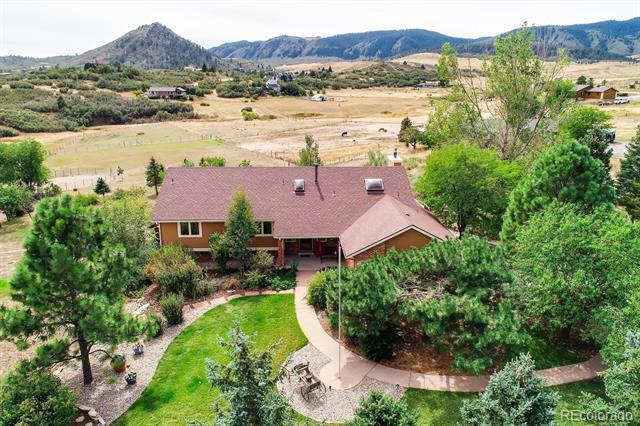 Photo of home for sale at 7362 Rainbow Creek Road, Sedalia CO