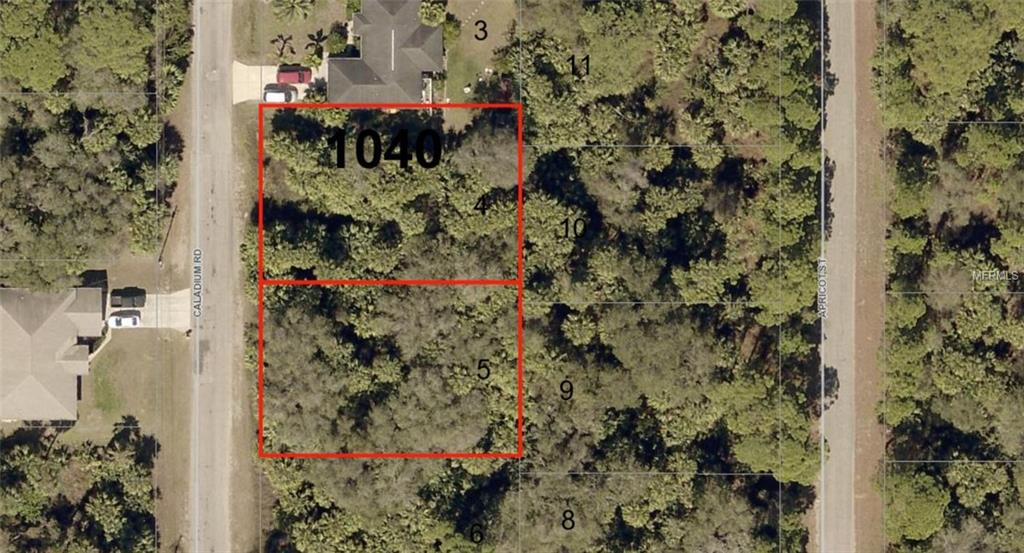 Photo of home for sale at Lot 4 & 5 CALADIUM ROAD, North Port FL