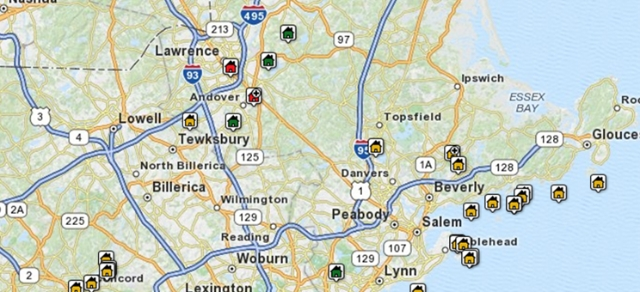 Search Topsfield Area Properties by Map
