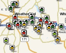 Search Properties Around Weatherford by Map