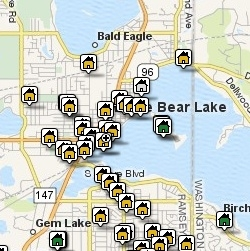 White Bear Lake Area Map Search for Active Real Estate Listings