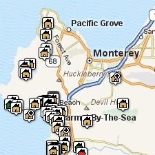View Carmel CA Area Listings by Map